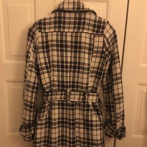Plaid Wool Dress Coat
